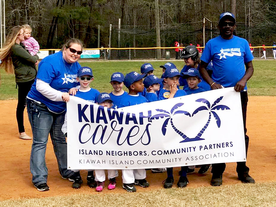 Kiawah Cares is sponsoring two little league teams in 2019. Photo courtesy of the Barrier Islands Little League.