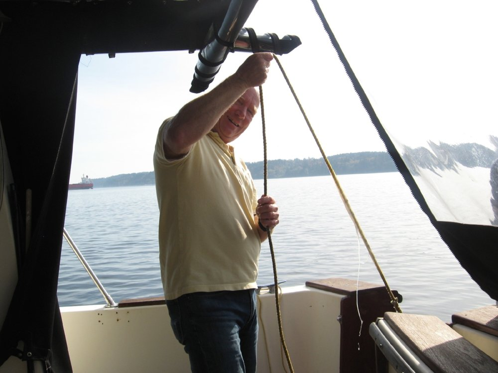 Some pics of the owner enjoying some boating time on the nearby Salish Sea