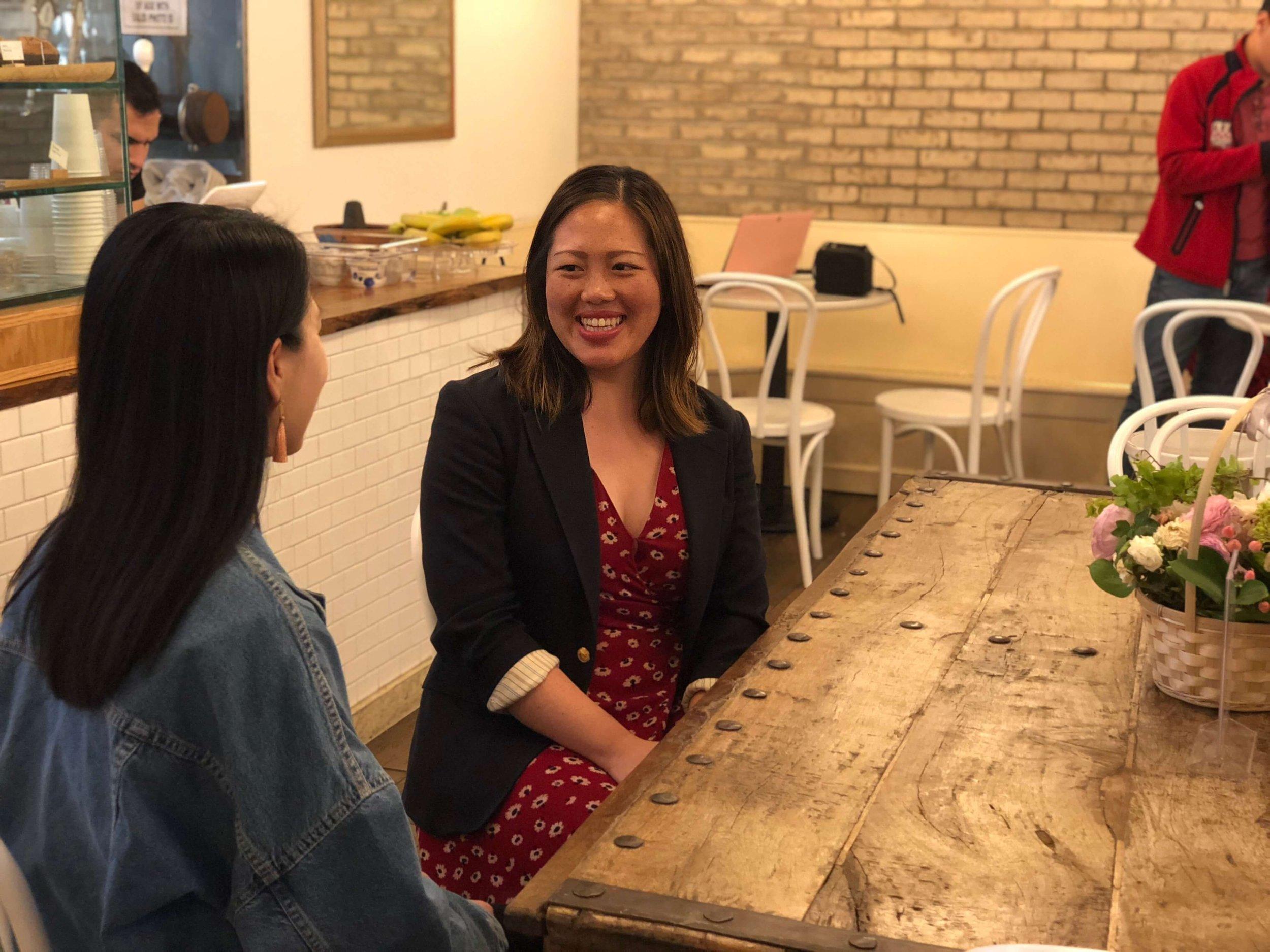 PbP Steering Committee member, Hai Yen, interviewing Lin