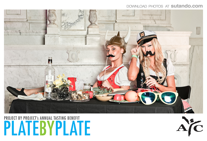 plate by plate girls enjoying food photobooth photo