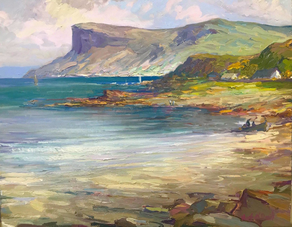 Antrim Coast,oil by HughO'Neill 30 x 24 inches.jpg