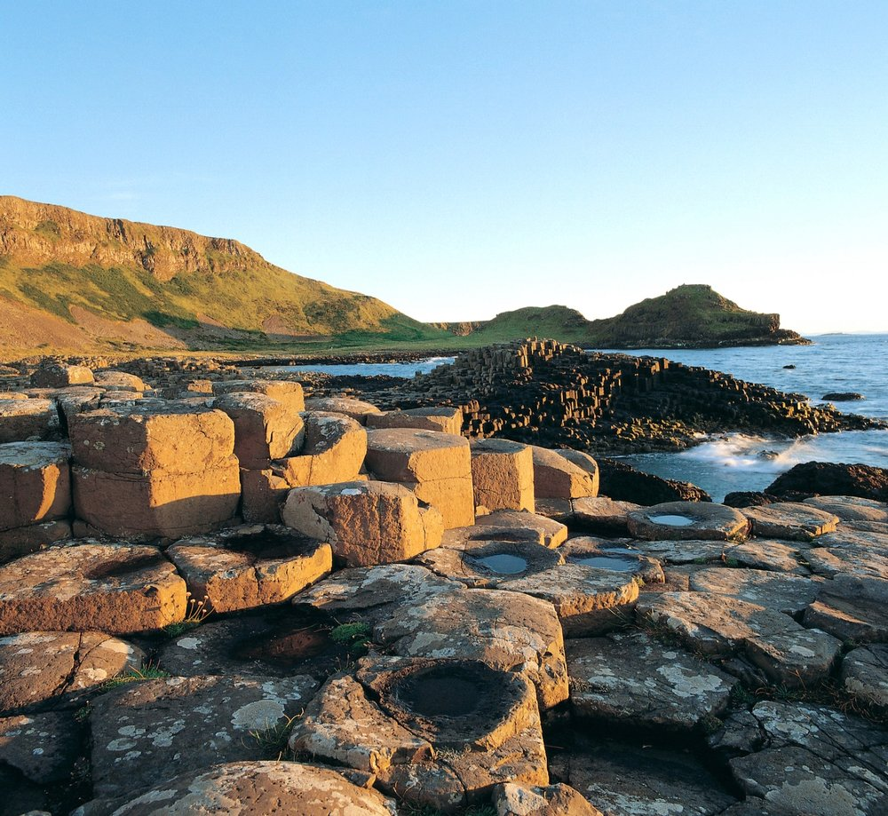 "The Giants Causeway, - A world famous UNESCO listed ""world heritage site"" Magical and Mysterious and a geological wander.According to legend, the columns are the remains of a causeway built by a giant."