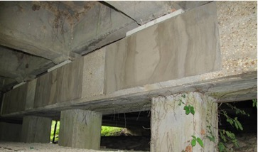 Figure 3: Repair mortar applied to Pier Cap