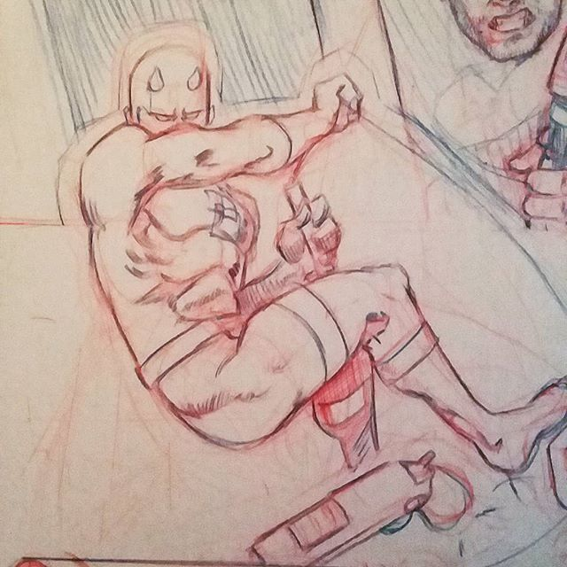 Some pencils for a portfolio page I'm doing. Anyone interested in coloring in some inks? #art #pencil #daredevil #drawing #comics #illustration #comicart #marvel