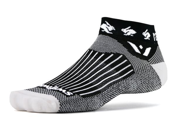 Socks  by rabbit. I have 4 pairs of these and they are on constant rotation. In running your feet taking a pounding, it's so important to treat them well!