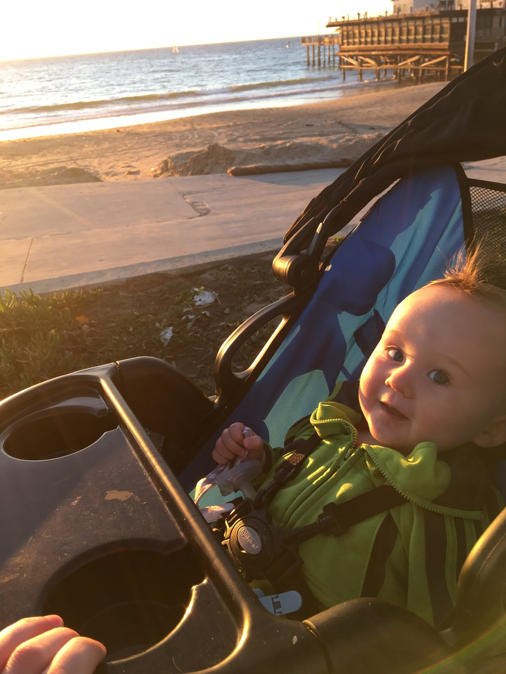 Little man has started waving, and would wave, mostly at dogs, we ran by on the strand. It melted my heart every single time.