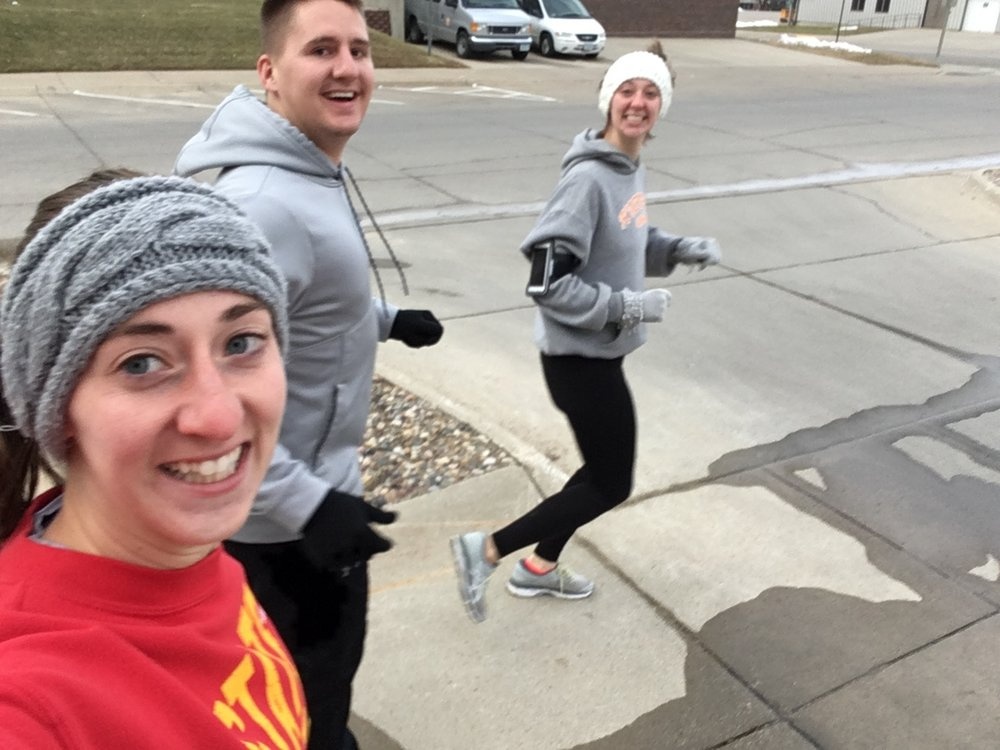Christmas Day run with my sister and husband!
