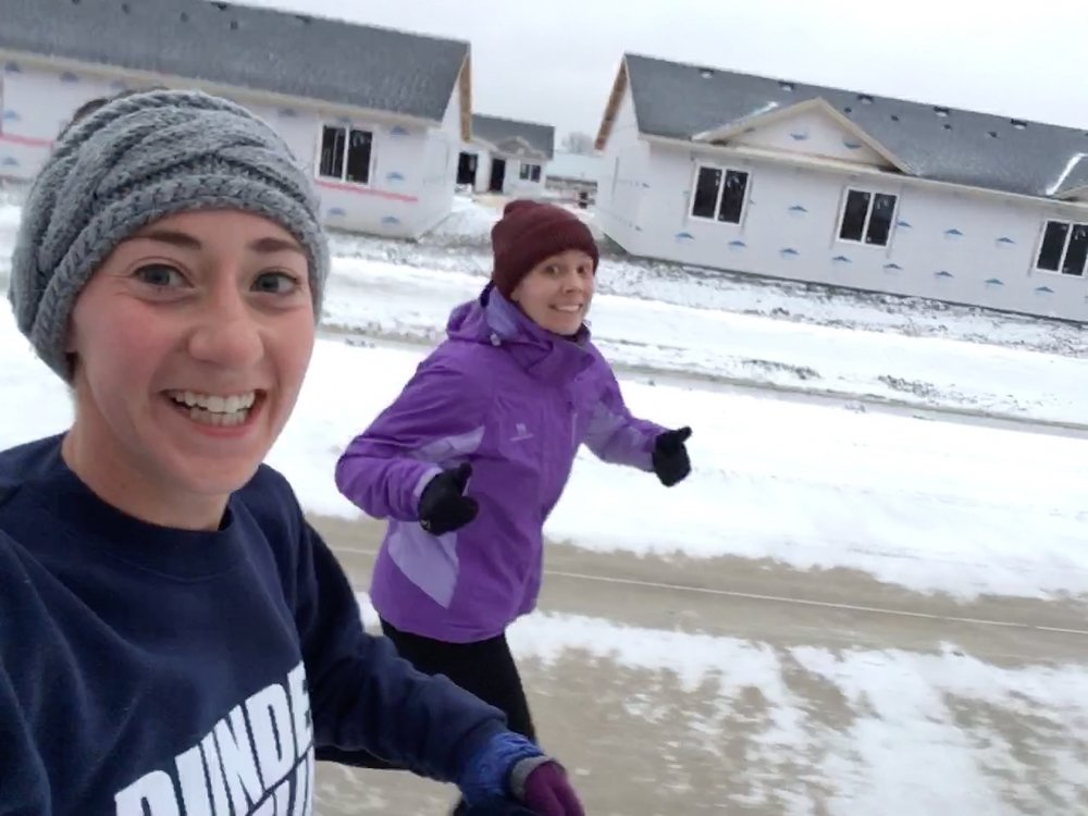 I got to put in some miles with my old coworker turned friend! Even tho it felt like 6 degrees we had a good run!