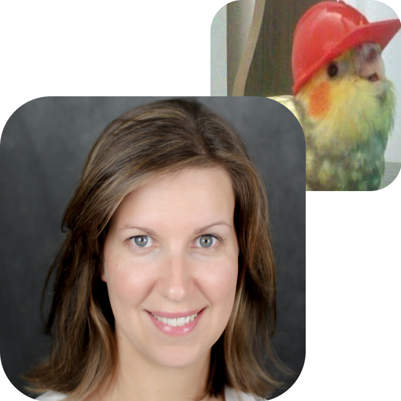 NAN PEREZ, CONSTRUCTION OWNER'S REPRESENTATIVE    Bird Twin:  Hardhat Bird   Why Commongrounds?  Commongrounds encompasses some of my most treasured passions in my most treasured hometown: construction, building community & connections, and coffee. Let's put a shovel in the ground!