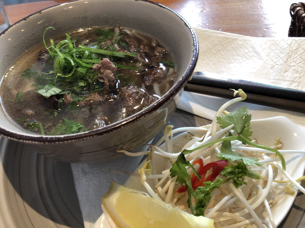 Beef pho from Cafe Fusion