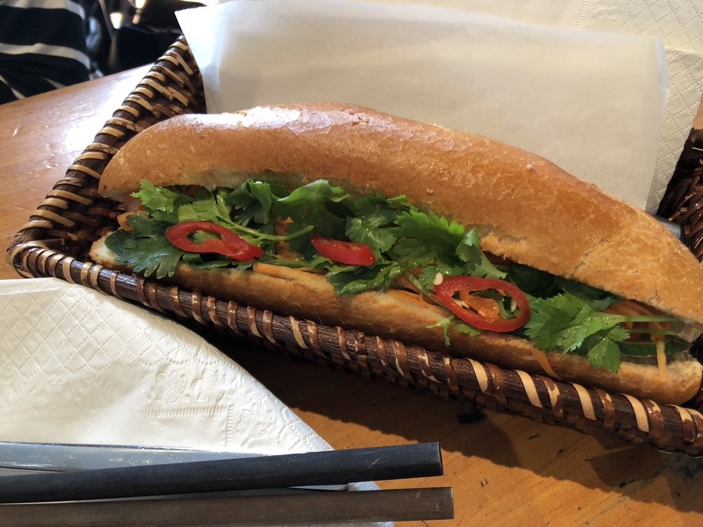 Pork belly banh mi from Cafe Fusion