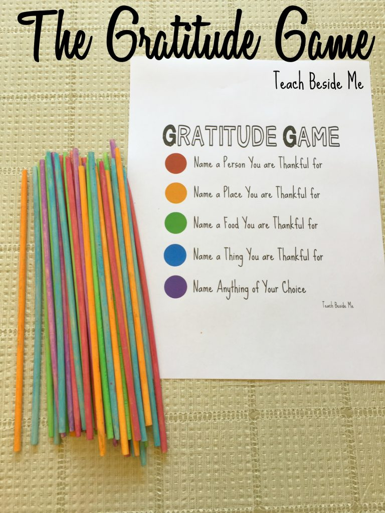 The Gratitude Game Pick-Up Sticks.  Click here for the website and more details.