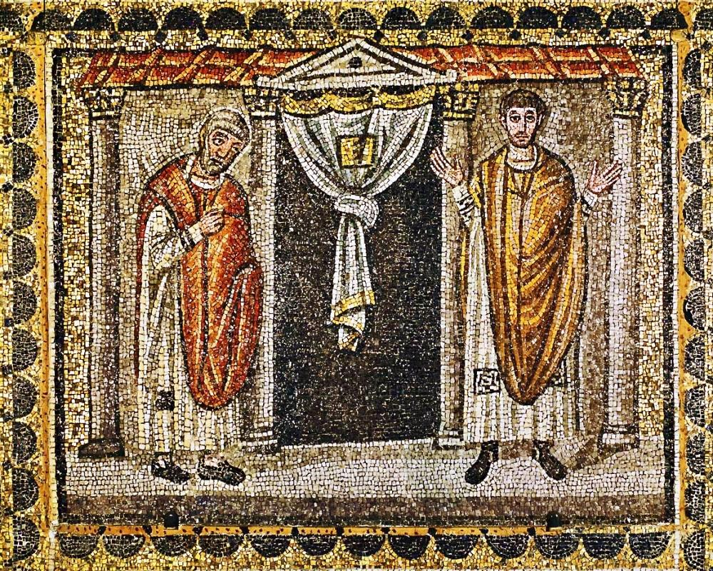 Pharisee and the Tax Collector (Byzantine Mosaic)