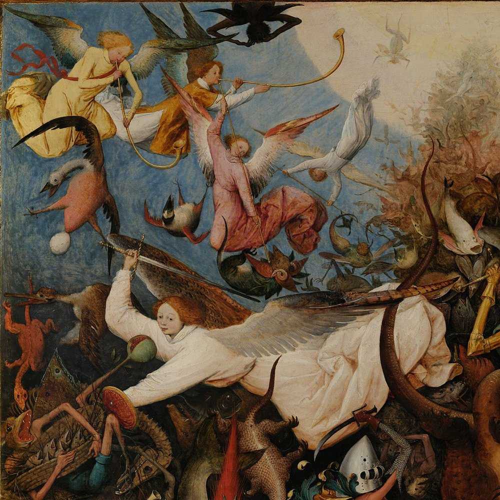 by Pieter Bruegel (The Fall of the Rebel Angels, 1562)