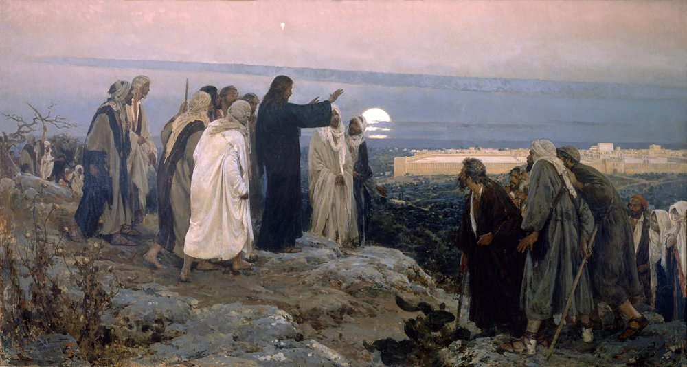 "Flevit Super Illam (Latin for ""he wept over it"" based on Luke 19:41) by Enrique Simonet, 1892"