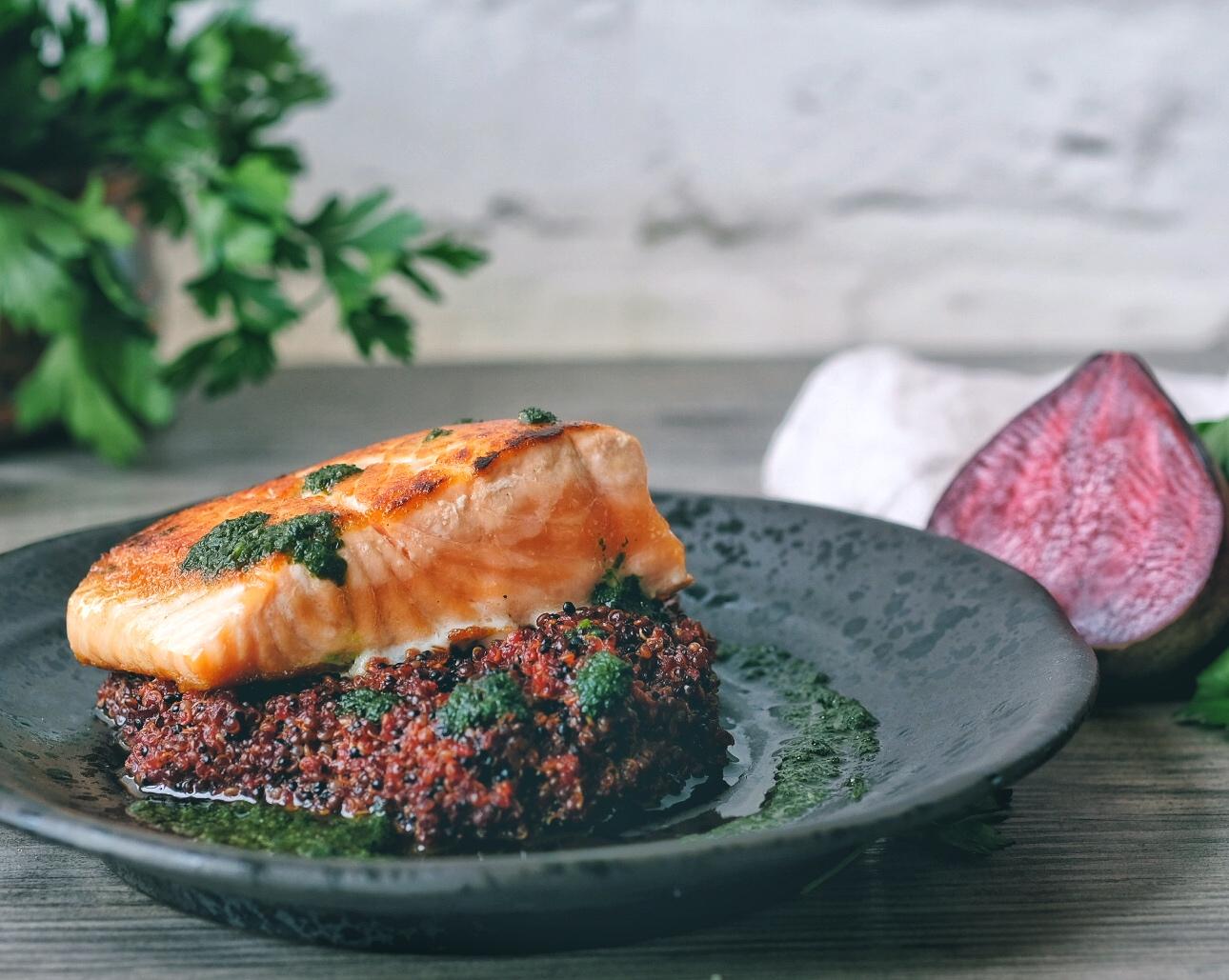 beet quinoa