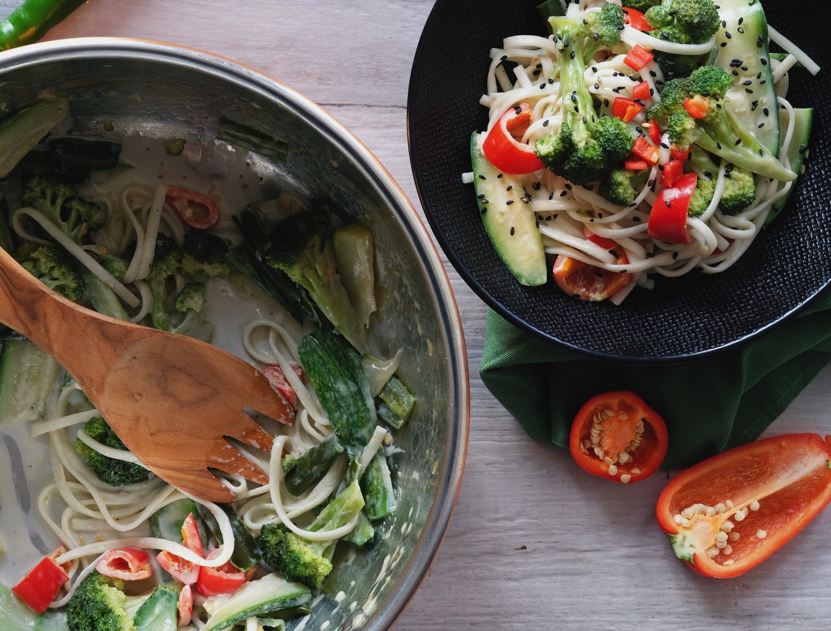 Vegetables noodles