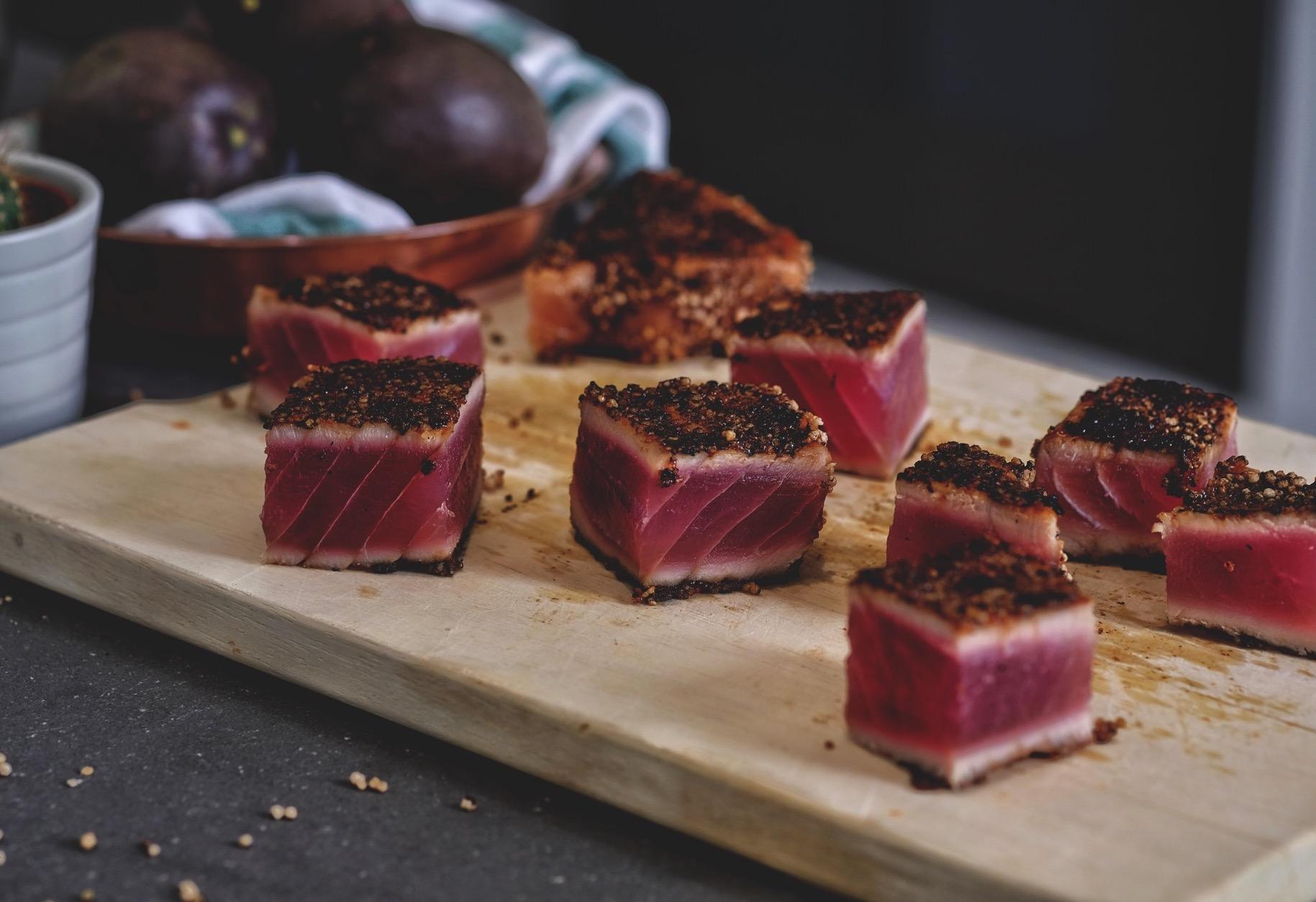 cubi di tonno