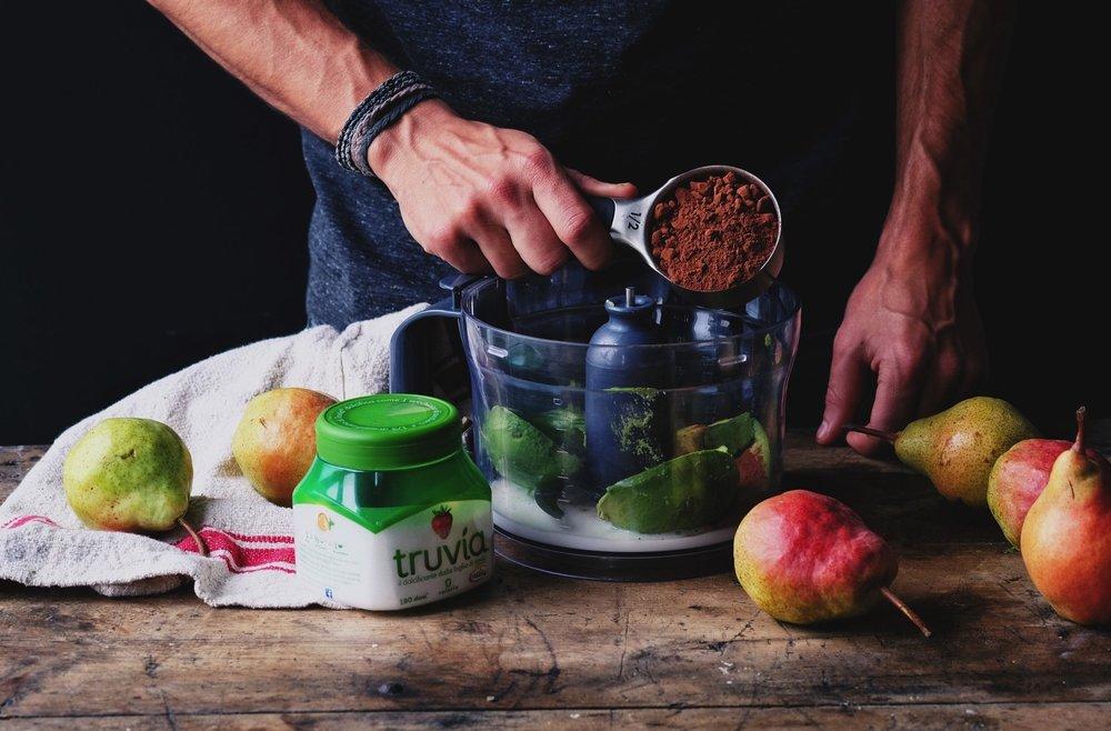 mousse avocado e cioccolato