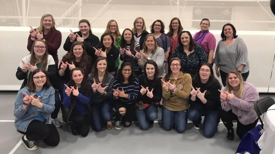 LKS Alpha Zeta Collegiate and Alumni members at St. Louis College of Pharmacy Alumni Association's Trivia Night on February 2, 2019 at St. Louis College of Pharmacy. Lambda Kappa Sigma had the highest donation and won a $1000 scholarship for a deserving LKS member selected by the Alumni Association.