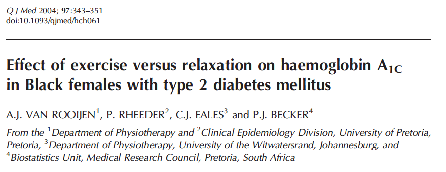 - Relaxation improves HbA1c to a greater extent than moderate exercise