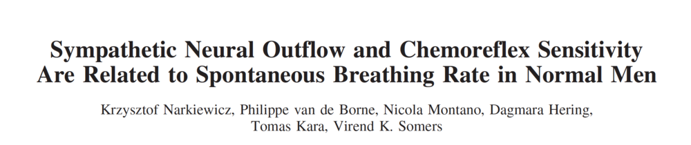 - Resting breathing rate is associated with resting sympathetic activity
