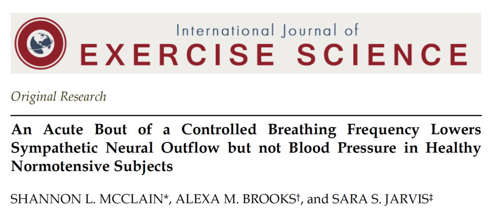 - Controlled breathing lowers sympathetic activity, even when performed at a relatively fast pace