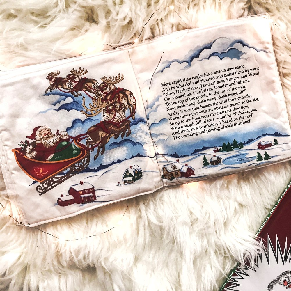This is the beautiful fabric Night Before Christmas book!