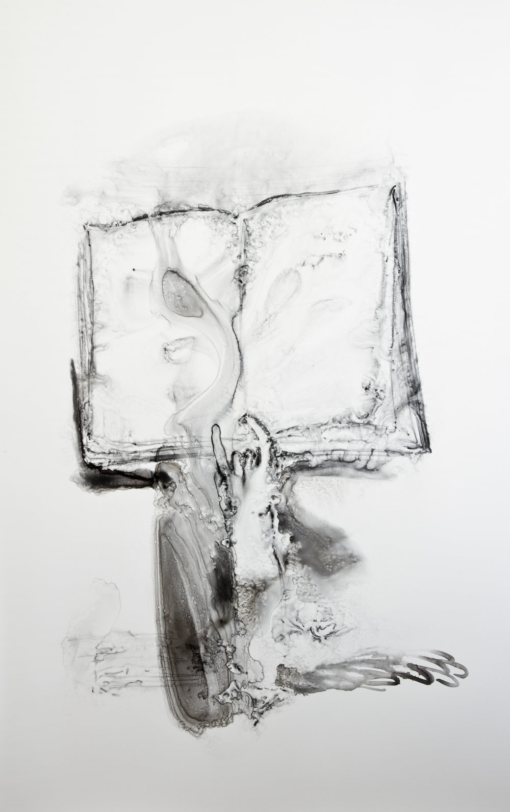 Signing the Book, 2016, watercolor on polypropylene, 60x40 inches