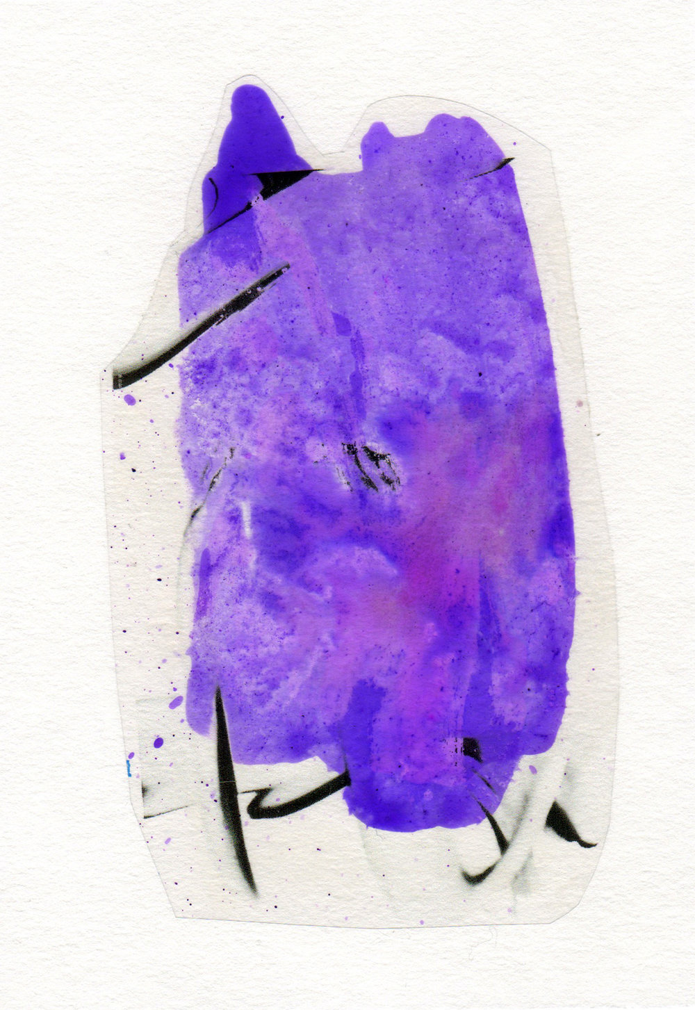 Body of a Medium 2015 acrylic watercolor mylar archival ink and paper 5 x 7