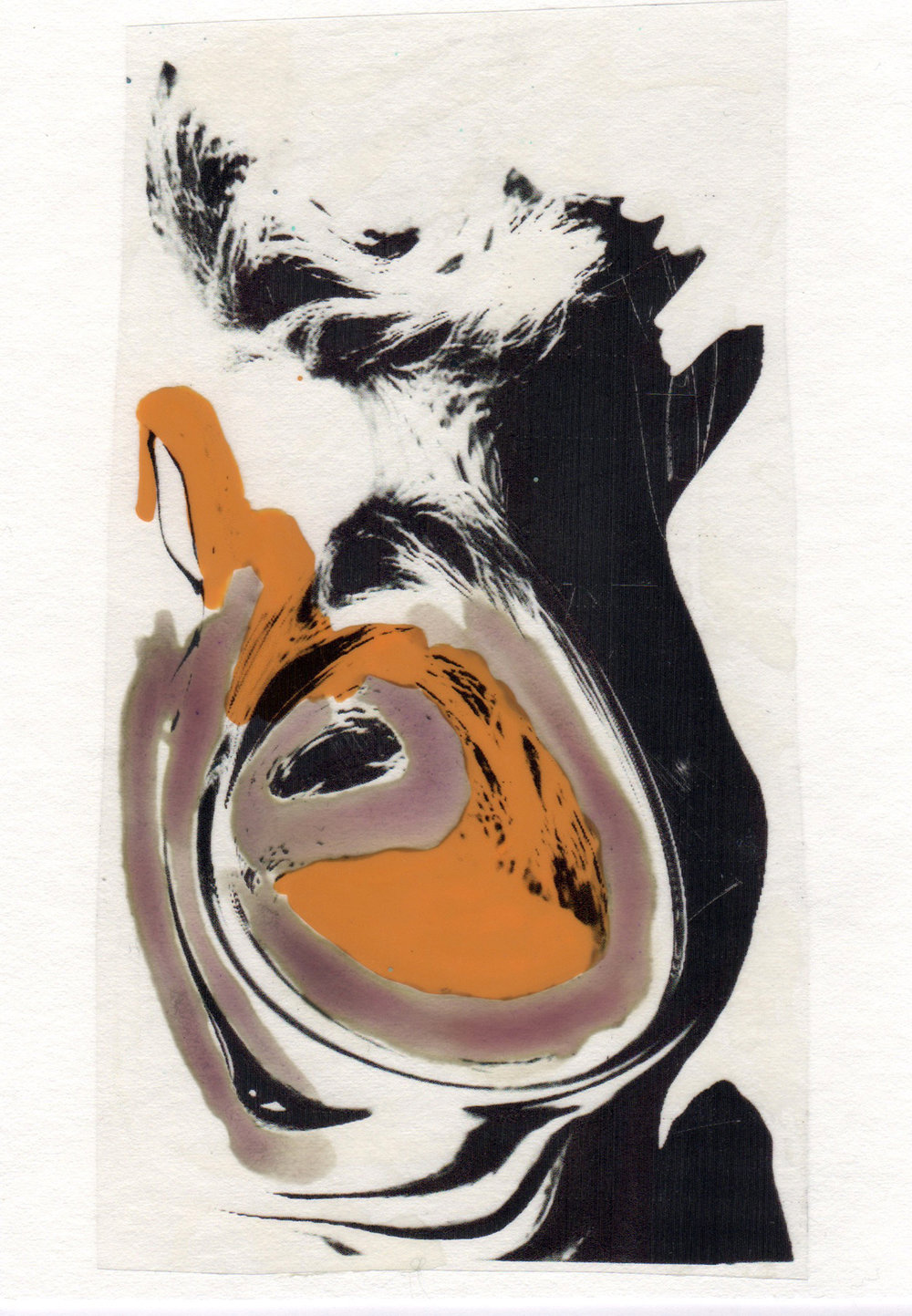 Naked Eye 2015 acrylic watercolor mylar archival ink and paper 5 x 7