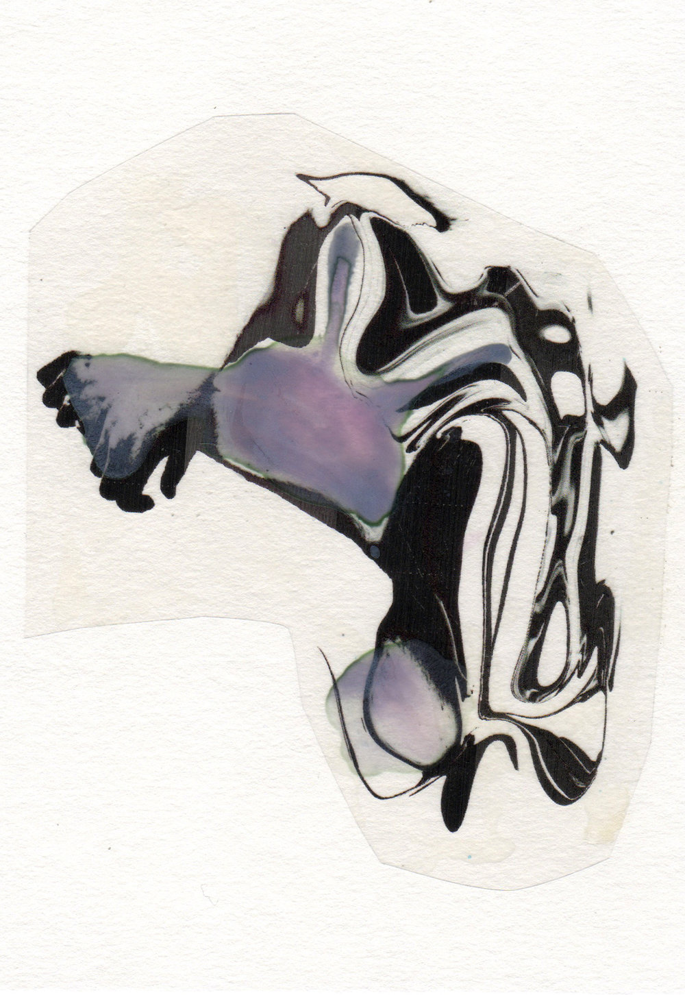 Paralyzer 2015 acrylic watercolor mylar archival ink and paper 5 x 7