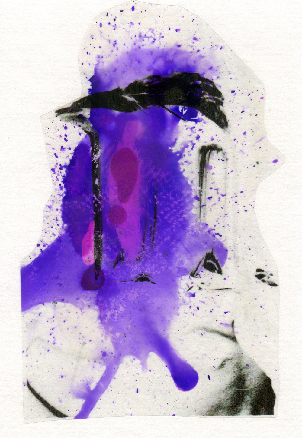 To The Heavens 2015 acrylic watercolor mylar archival ink and paper 5 x 7