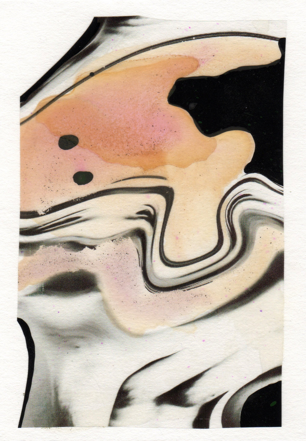 Twisted Mind 2015 acrylic watercolor mylar archival ink and paper 5 x 7