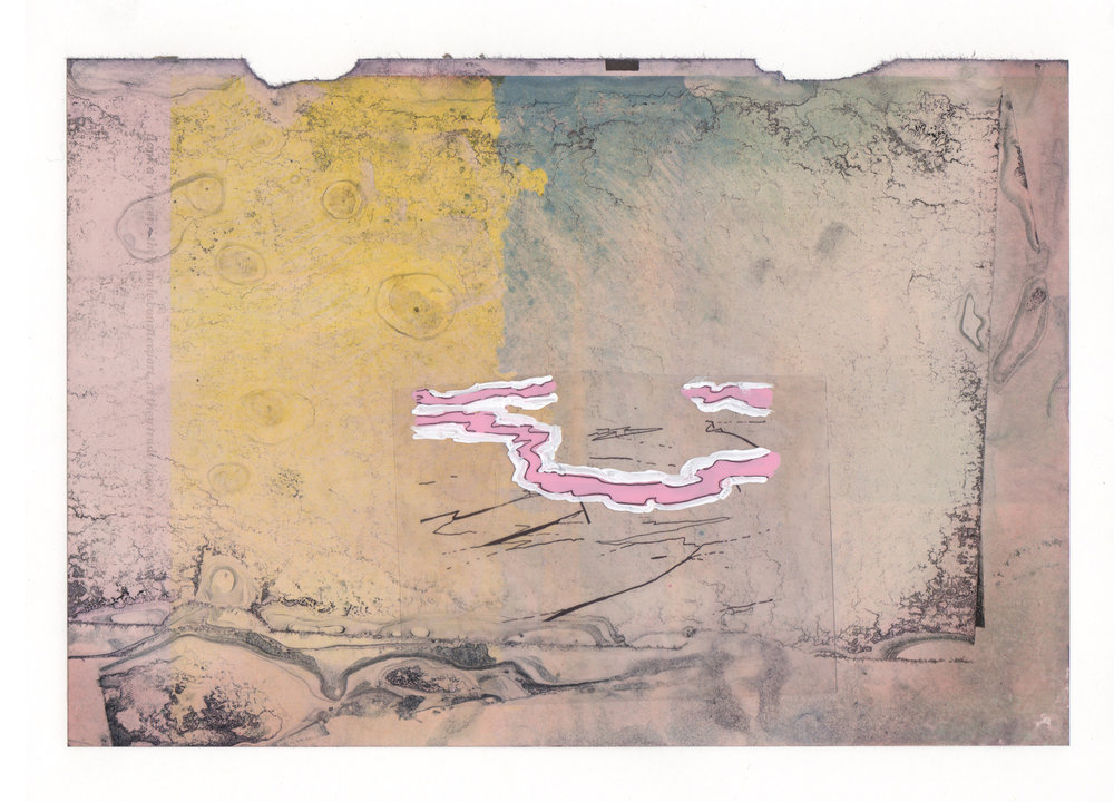 Pink Slip 2015 acrylic mylar archival ink and paper 8 5 x 11