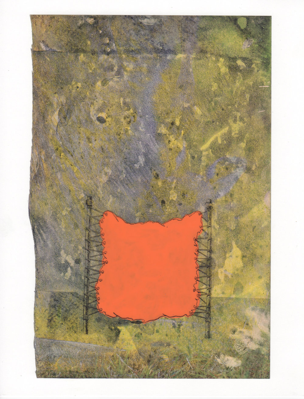 Tanned 2015 acrylic mylar archival ink and paper 8 5 x 11