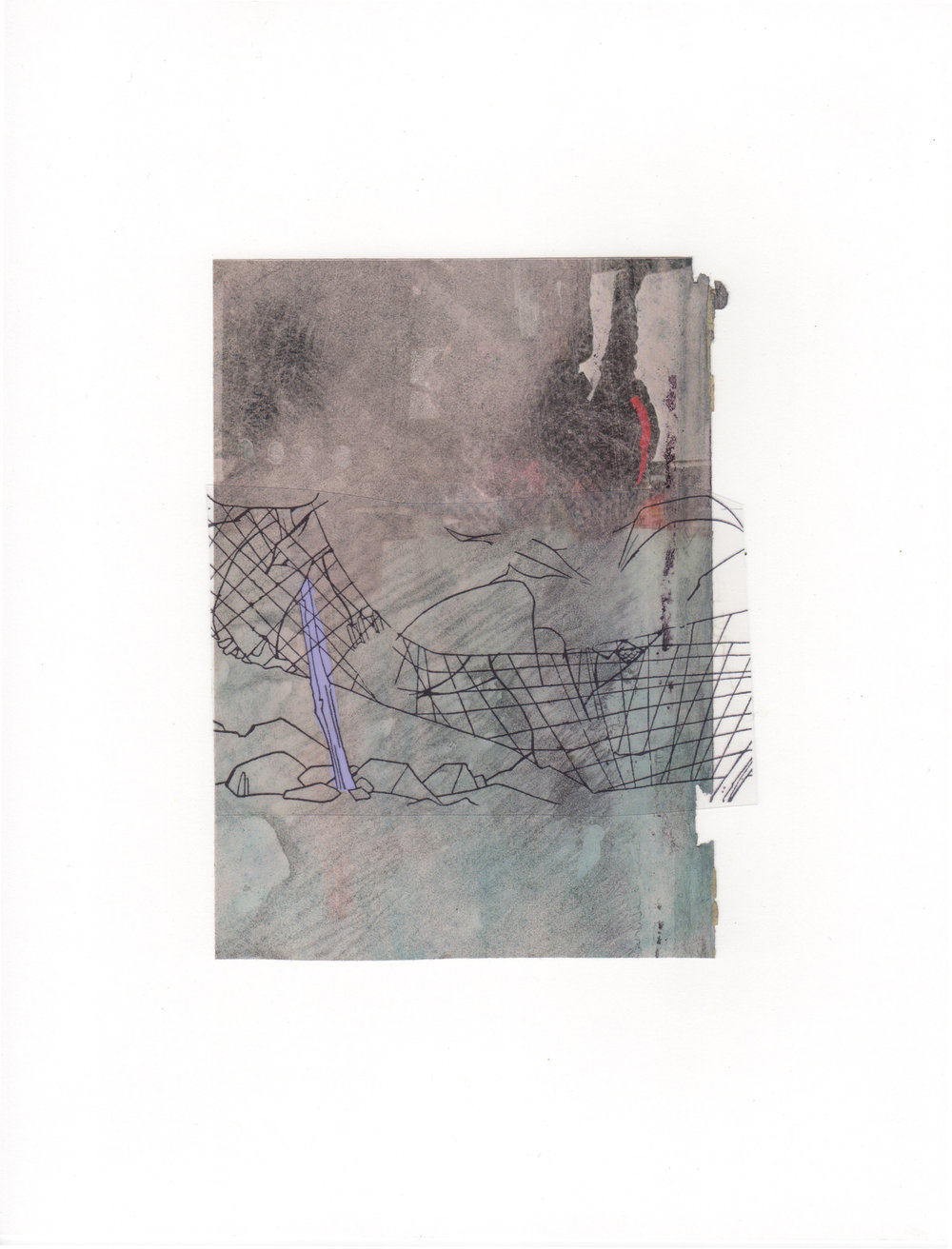 The Net 2015 acrylic mylar archival ink and paper 8 5 x 11
