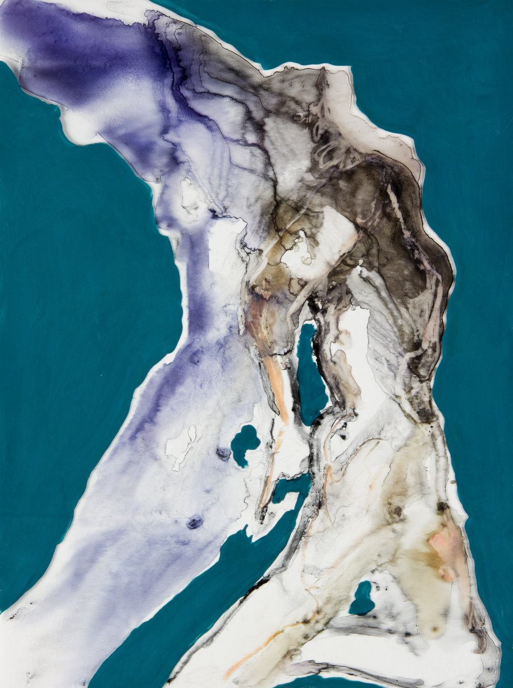 Pillar of Salt, 2014, watercolor and acrylic on mylar on panel, 9x12 inches