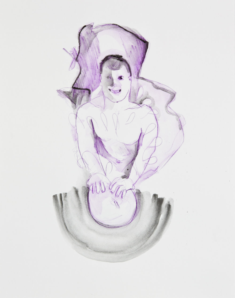 Antiperspirant, 2013, graphite, crayon and watercolor pencil on paper, 11x14 inches