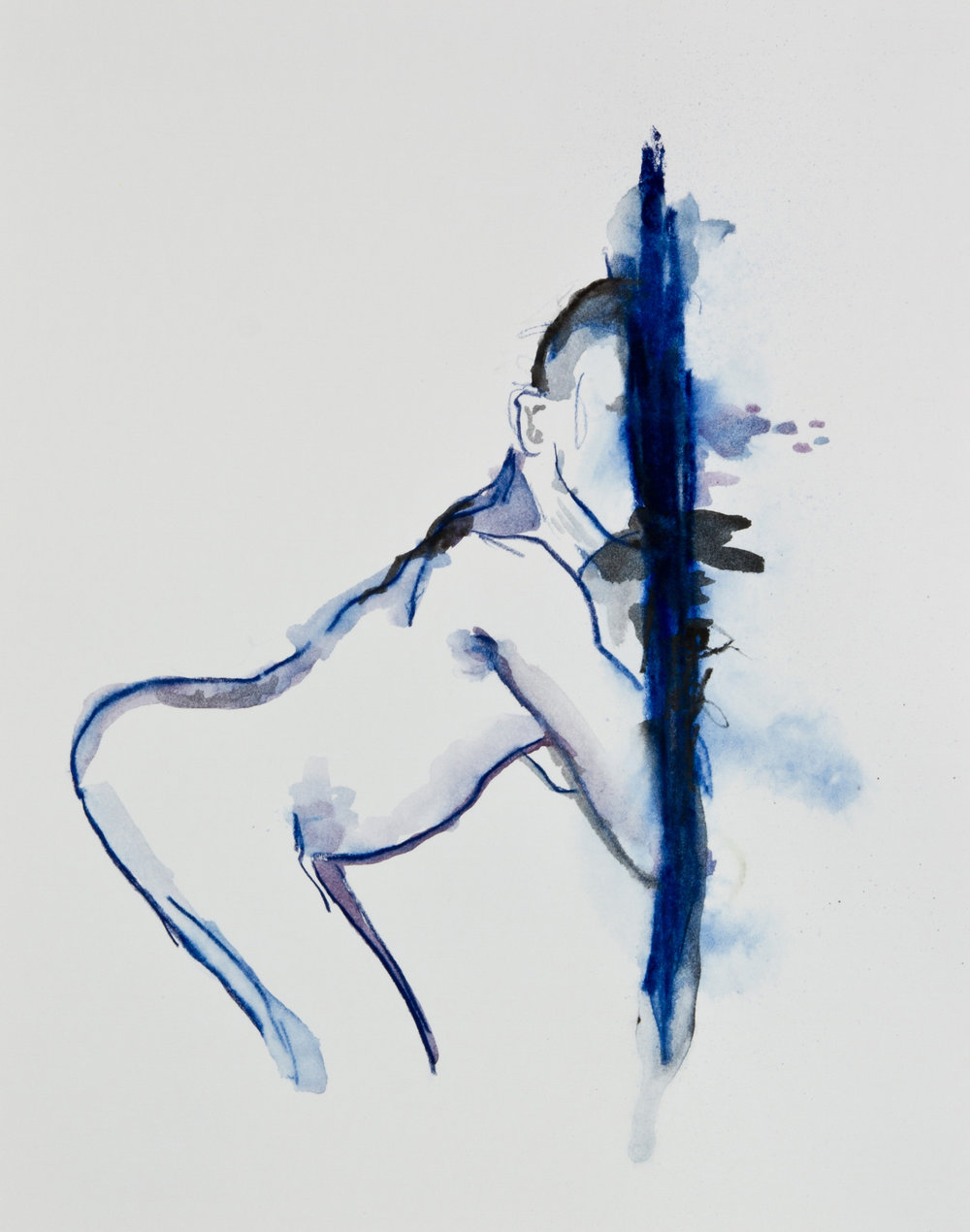 Blue, 2013, graphite, crayon and watercolor pencil on paper, 11x14 inches
