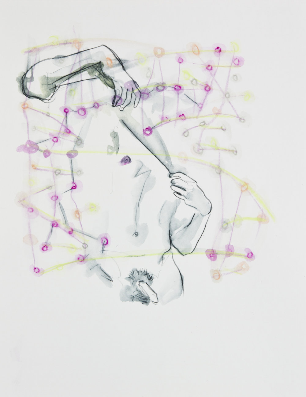 Cosmic Confetti, 2013, graphite and watercolor pencil on paper, 11x14 inches