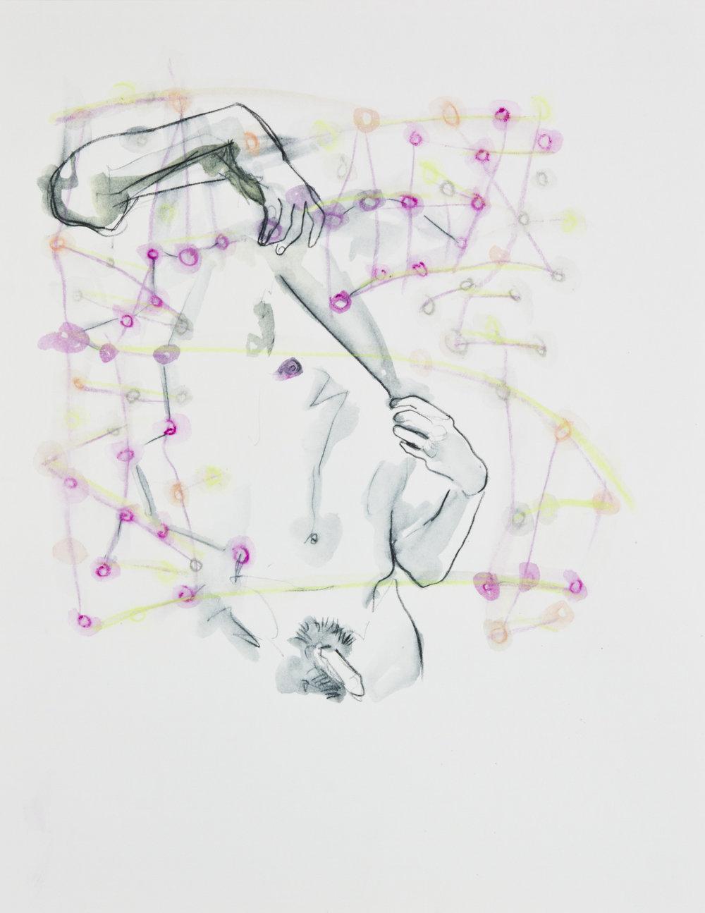 Cosmic Confetti, 2013, graphite and watercolor pencil on paper, 11x14 inches