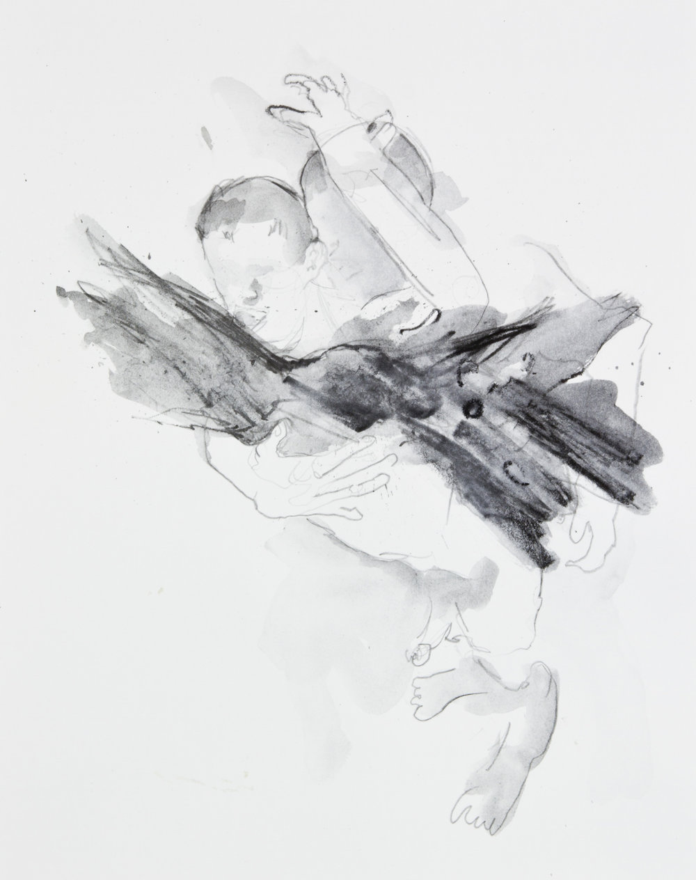 Forming Out Of Nothing, 2013, graphite on paper, 11x14 inches