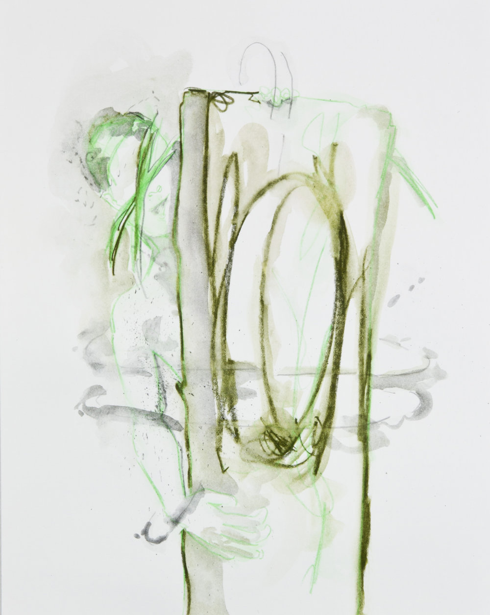 Green Fairy Light, 2013, graphite, crayon and watercolor pencil on paper, 11x14 inches