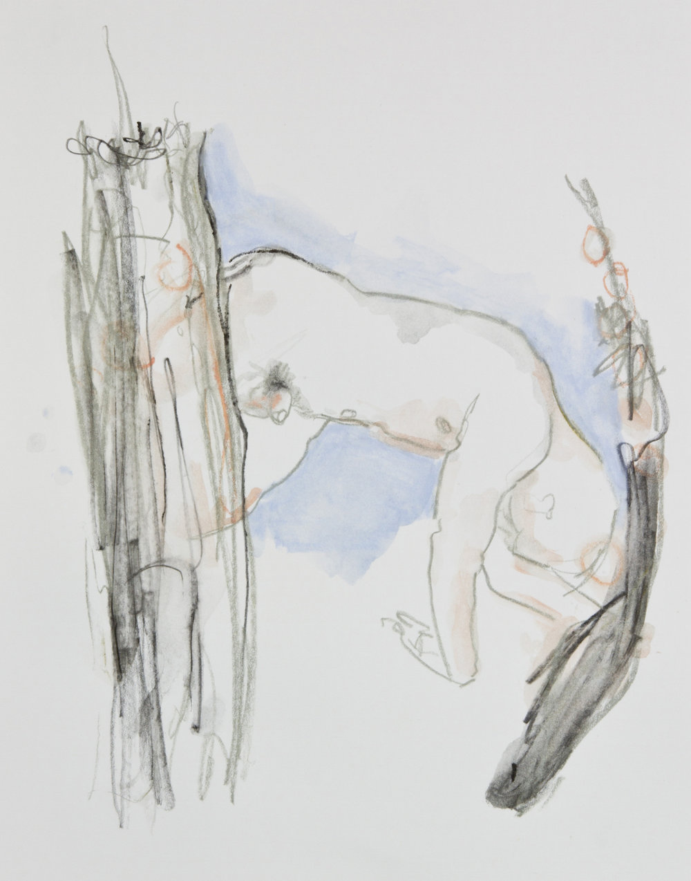 One Portal To Another, 2013, graphite, crayon and watercolor pencil on paper, 11x14 inches