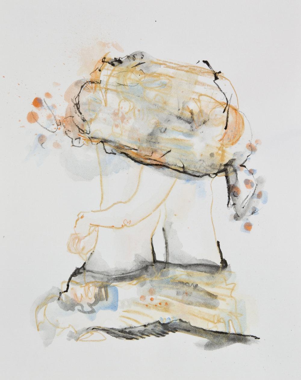 Orange Crush, 2013, graphite, crayon and watercolor pencil on paper, 11x14 inches