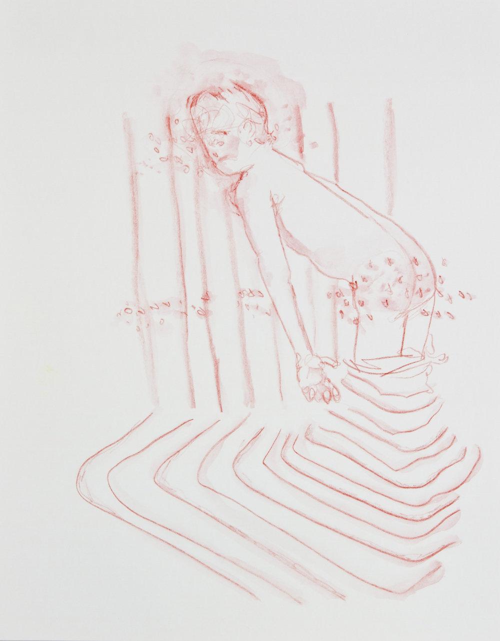 Quicksand Magic, 2013, watercolor pencil on paper, 11x14 inches
