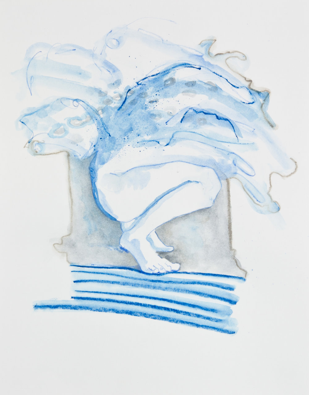 Swimming In Their Own Gravy, 2013, graphite, crayon and watercolor pencil on paper, 11x14 inches