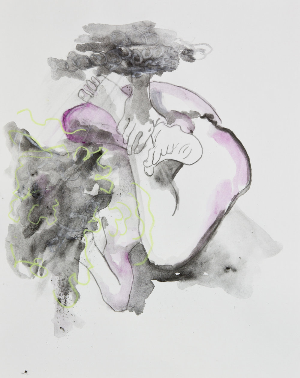 Unconscious Creation, 2013, graphite, crayon and watercolor pencil on paper, 11x14 inches