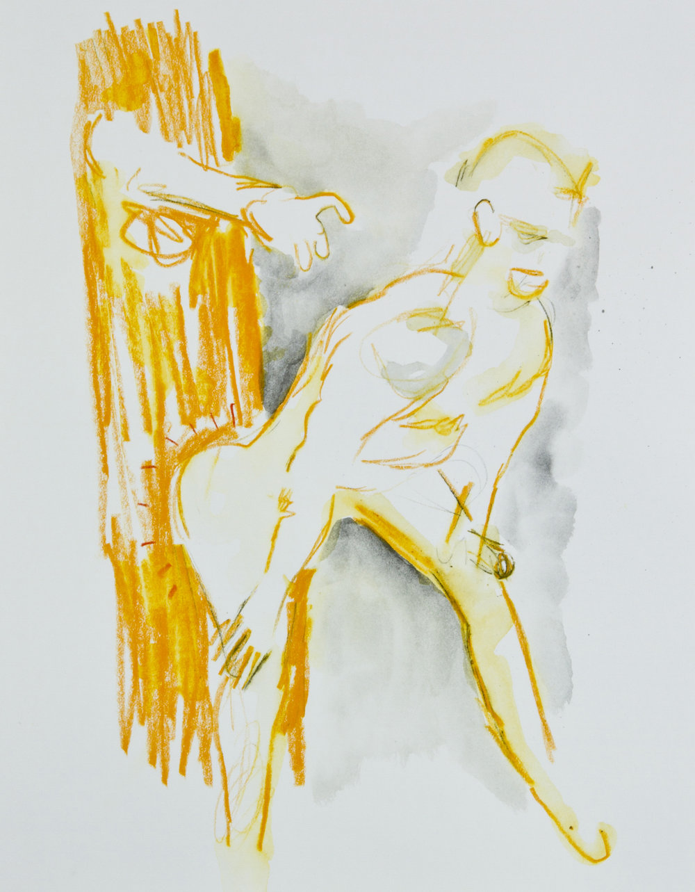 Waxing The Abyss, 2013, graphite, crayon and watercolor pencil on paper, 11x14 inches